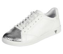 Sneaker mit Zehenkappe in Metallicoptik