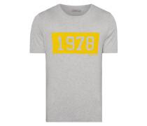 Slim Fit T-Shirt mit Logo-Flockprint
