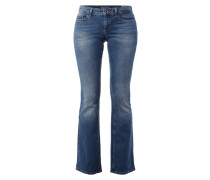 Stone Washed Flared Cut Jeans
