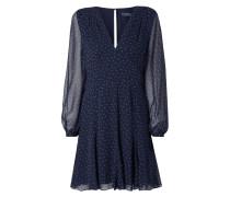 Kleid aus reiner Seide mit Allover-Muster