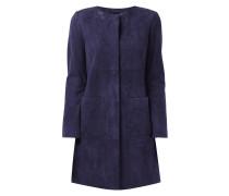 Mantel aus echtem Veloursleder