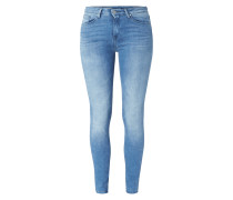 Double Stone Washed Jegging Fit Jeans