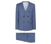 Fitted Anzug aus reiner Wolle mit 2-Knopf-Sakko