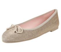 Ballerinas aus Leder mit Glitter-Effekt
