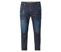 Regular Slim-Tapered Jeans im Destroyed Look