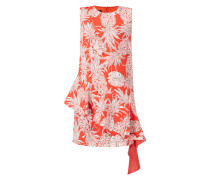 Kleid mit asymmetrisch gestuftem Rockteil