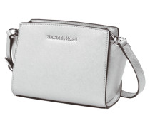 Crossbody Bag aus Saffianoleder in Metallicoptik