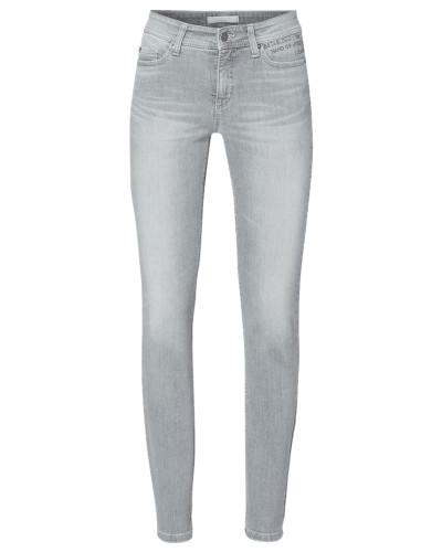 Slim Fit Jeans mit Message aus Ziersteinen