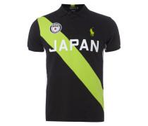Custom Fit Poloshirt mit Japan-Aufnäher