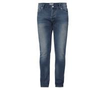 Used Look Slim Fit Jeans mit Stretch-Anteil