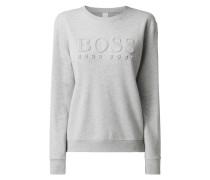 Relaxed Fit Sweatshirt mit strukturiertem Logo