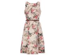 Kleid mit floralem Muster und Effektgarn