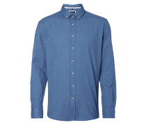 Regular Fit Flanellhemd mit Button-Down-Kragen