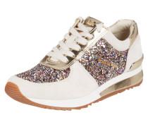 Sneaker 'Allie' aus Veloursleder mit Glitter-Effekt