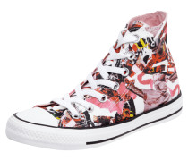High Top Sneaker mit Allover-Muster