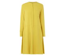 Kleid aus Krepp mit verdeckter Knopfleiste