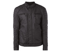 Biker-Jacke aus beschichteter Baumwolle