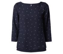 Blusenshirt aus Chiffon mit Allover-Muster