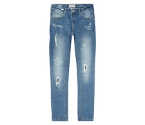 Destroyed Slim Fit 5-Pocket-Jeans
