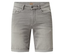 Slim Fit Jeansshorts aus Sweat Denim Modell 'Madison'