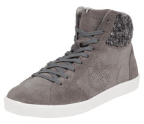 High Top Sneaker aus echtem Veloursleder