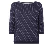 Sweatshirt mit Punktemuster und Raffungen