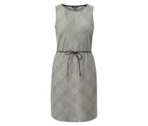 Kleid mit Glencheck und Taillengürtel