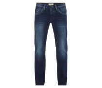 Stone Washed Comfort Fit 5-Pocket-Jeans