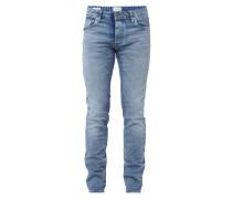 Slim Fit Jeans im Bleached-Look