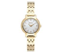 Uhr aus Edelstahl in Goldoptik