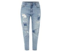 Boyfriend Fit 5-Pocket-Jeans im Destroyed Look