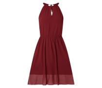 Kleid aus Krepp mit Cut Out