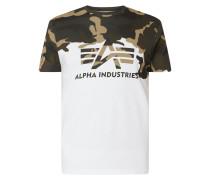 T-Shirt aus Baumwolle mit Camouflage-Muster