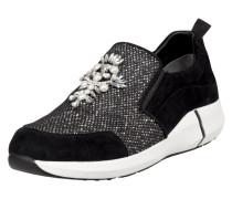 Slip-On Sneaker aus Veloursleder mit Ziersteinen