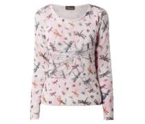 Pullover mit Allover-Muster und Ziersteinen