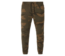 Anti Fit Jogpants mit Camouflage-Muster