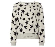 Sweatshirt mit Sternen-Aufnähern