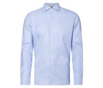 Slim Fit Business-Hemd mit Pepita-Dessin