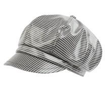 Baker Boy Hat mit Hahnentritt-Dessin