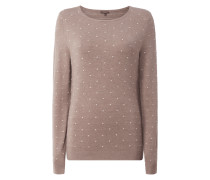 Pullover mit eingestricktem Punktemuster
