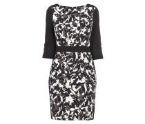 Kleid mit abstraktem Muster und Mesh