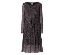 Kleid aus Mesh mit Allover-Muster Modell 'Iggy'