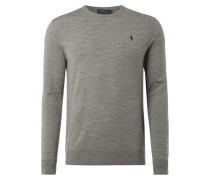 Slim Fit Pullover mit Wolle