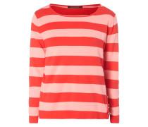 Pullover mit Ziersteinen - gestreift