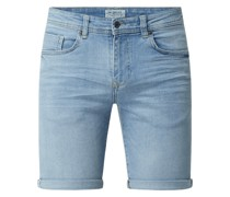 Slim Fit Jeansshorts mit Stretch-Anteil Modell 'Cooper'