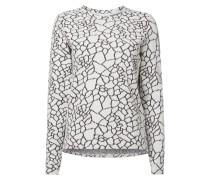 Sweatshirt mit strukturiertem Muster