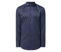 Slim Fit Business-Hemd mit Stretch-Anteil mit extra langem Arm