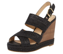 Wedges in Flechtoptik