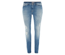 PLUS SIZE - Skinny Fit Jeans im Destroyed Look