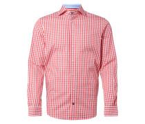 Fitted Business-Hemd mit Karo-Dessin